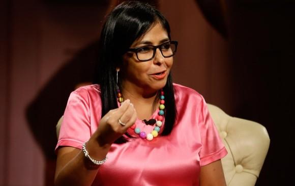 Vicepresidente de Venezuela sancionada por la Unión Europea.