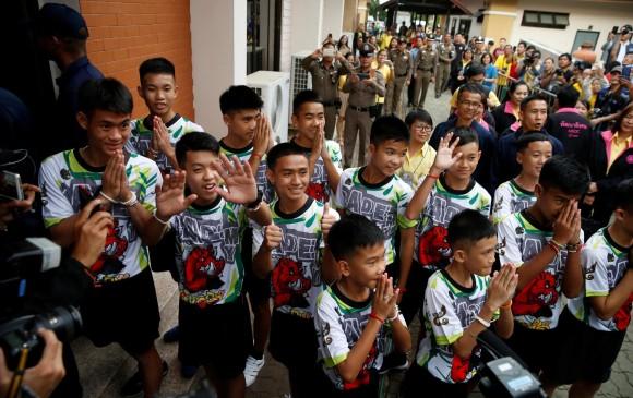Bebíamos agua de lluvia y cavábamos túnel: niños rescatados en Tailandia.