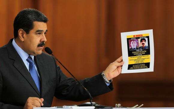 """Maduro pidió extradición desde Colombia de """"cabecillas"""" del atentado."""
