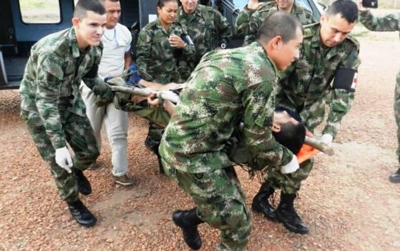 Murió soldado en ataque del Eln en apertura de votaciones en Anorí