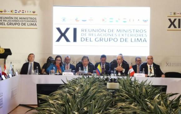 COMENZÓ CUMBRE DEL GRUPO DE LIMA SOBRE CRISIS DE VENEZUELA