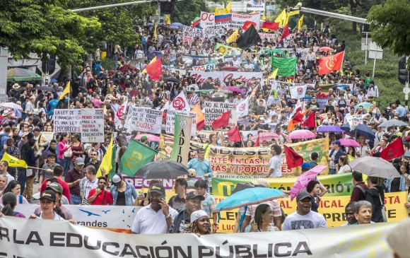 UN PARO QUE PROTESTÓ POR EL PLAN DE DESARROLLO